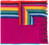 Paul Smith striped fringed scarf