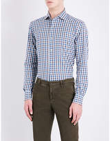 Corneliani ID regular-fit gingham checked cotton shirt