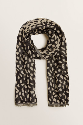 Seed Heritage Abstract Spot Jacquard Scarf