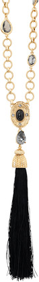 Oscar de la Renta Crystal & Resin Tassel Necklace