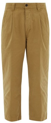 Albam Cropped Cotton-ripstop Trousers - Brown