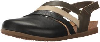 El Naturalista Women's NF45 Soft Grain Black Mixed/Zumaia Flat Sandal 38 Medium EU (8 US)