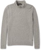 Hugo Boss - Belmonte Mélange Wool-blend Half-zip Sweater