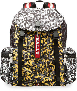 Bally Men's Crew Camouflage Trainspotting Backpack