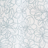 Abstract Floral Sheer Window Panels - Mist