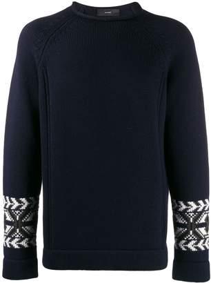 Alanui embroidered sleeve sweater