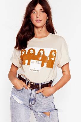 Nasty Gal Womens Pink Floyd Graphic Band Tee - Beige - S