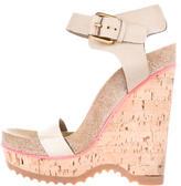 Stella McCartney Cork Wedge Sandals