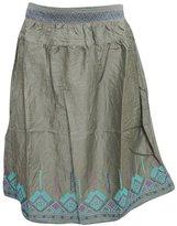 Mogul Interior Womens Mini Skirts Rayon Embroidered Boho Flare Retro Skirt