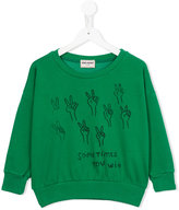 Bobo Choses Podium sweatshirt - kids - Organic Cotton/Polyester/Spandex/Elastane - 7 yrs