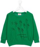 Bobo Choses Podium sweatshirt - kids - Organic Cotton/Polyester/Spandex/Elastane - 8 yrs