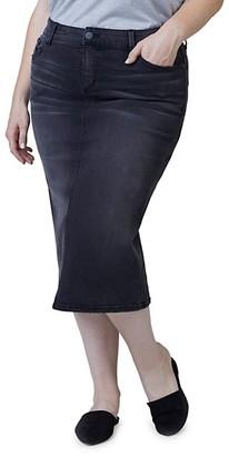 Slink Jeans, Plus Size Denim Pencil Skirt