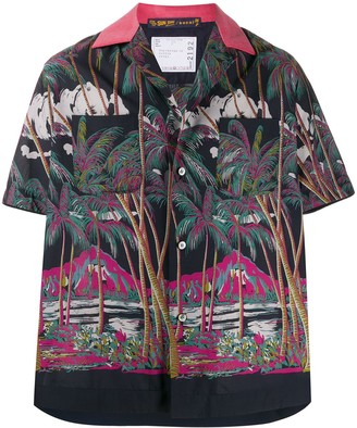 Sacai Sun Surf-print boxy-fit shirt