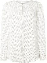Marella Diction ruffle polka dot blouse