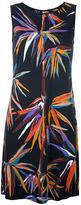 Emilio Pucci bird of paradise print dress - women - Silk/Cotton/Viscose - 46