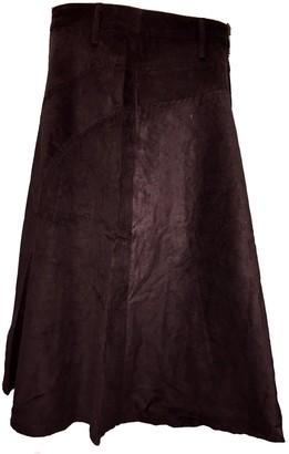 One World is Enough Fair Trade Fashionable Corduroy Annie Maxi Skirt - Chocolate Brown (Chocolate Brown 10)