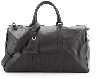 Chanel CC Weekender Bag Caviar Large