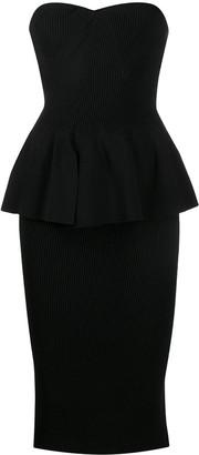 Philosophy di Lorenzo Serafini Strapless Knitted Midi Dress