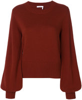Chloé balloon sleeved cashmere pullover