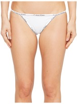 Calvin Klein Underwear CK ID Cotton Small Waist Band String Bikini