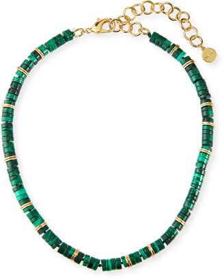 Nest Jewelry Malachite Heishi Necklace