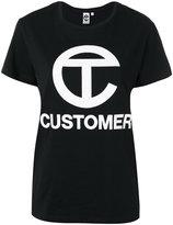 Telfar customer print T-shirt - women - Cotton/Spandex/Elastane - S