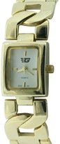 Golddigga Women's Quartz Watch with White Dial Analogue Display and Gold Bracelet DIG35/A