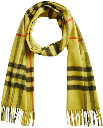 Burberry Overdyed Exploded Check Cashmere Scarf