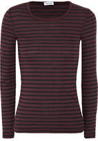 Splendid Venice Striped Jersey Top - Plum