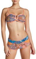 Maaji Border to Border Bandeau Soft Cup Reversible Bikini Top