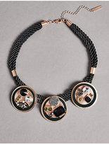 Autograph Diamanté Triple Bloom Shield Necklace