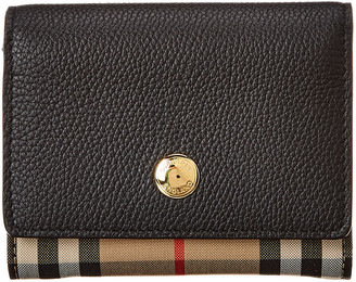 Burberry Small Vintage Check & Leather French Purse