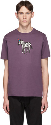 Paul Smith SSENSE Exclusive Purple Zebra Regular Fit T-Shirt