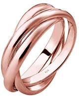 Elli Women Gold Plated 925 Sterling Silver Wrap Ring - Size P 0601480317_56