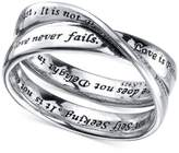 "Unwritten Love Is Patient"" Ring in Sterling Silver"
