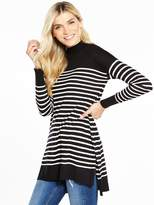 Very Stripe Turtleneck Split Side Tunic
