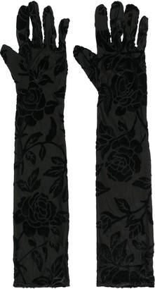 Simone Wild Floral Velvet Gloves