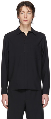 Solid Homme Black Woven Shirt