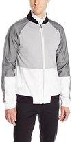 Calvin Klein Men's Long-Sleeve Full-Zip Bomber Jacket with Color-Block