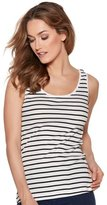 M&Co Stripe scoop neck vest top