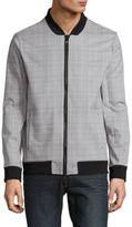 Calvin Klein Checked Long-Sleeve Jacket