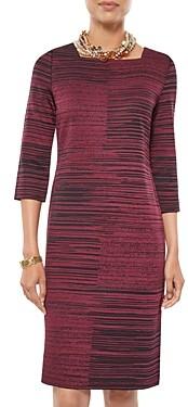 Misook Melange Knit Sheath Dress