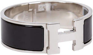 One Kings Lane Vintage Hermes Black Clic Clac Bracelet - Vintage Lux