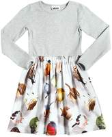 Molo Bird Printed Cotton Jersey Dress