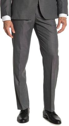 """Moss Bros Medium Grey Solid Regular Fit Suit Separates Pants - 30-34"""" Inseam"""