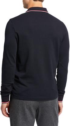 Moncler Men's Long-Sleeve Polo Shirt