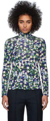 Rokh Multicolor Floral Turtleneck