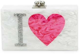Edie Parker Jean I Heart LA Marbled Box Clutch