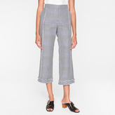 Paul Smith Women's Slim-Fit Black And White Gingham Trousers With Frills