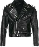 Enfants Riches Deprimes cropped stud detail biker jacket